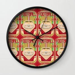 American Football Red and Gold - Enzone Puntfumbler - Sven version Wall Clock