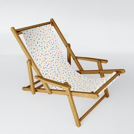 Colorful Party Sprinkles Sling Chair