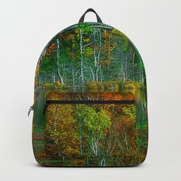 Forest and Lake Reflection Backpack