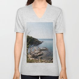 Mediterranean Summer in Greece Unisex V-Neck
