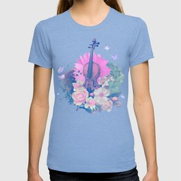 """VIOLIN by collection """"Music"""" T-shirt"""