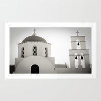 greece Art Prints featuring Greece by Sarah Storm