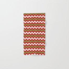 Christmas Ribbon Chevron Hand & Bath Towel