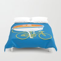 ramen Duvet Covers featuring GoGo Ramen by mogumogu