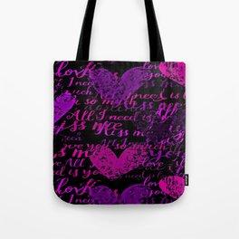 Kiss Me, Miss Me Purple Tote Bag