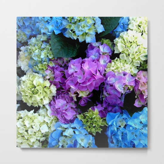 Colorful Flowering Bush Metal Print