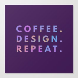 Coffee Design Repeat Canvas Print