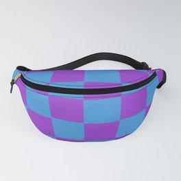 Violet Purple & Blue Chex Fanny Pack