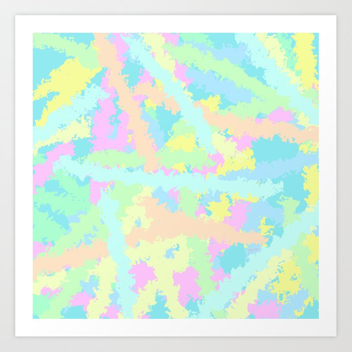 Dreaming A Colorful World Colorful Abstract Art Pastel Colors Art Print By Lennaarty