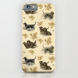 Dachshunds pattern iPhone Case