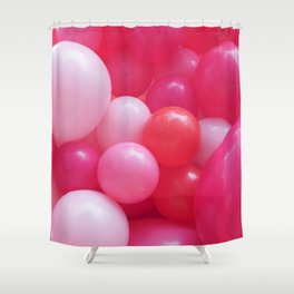 Pink Balloons Shower Curtain