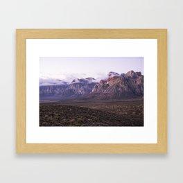 Purple Mountains Framed Art Print