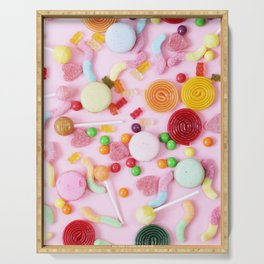 Pink Candy Serving Tray