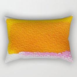 PINK + ORANGE LAYERED ABSTRACT WATERCOLOUR Rectangular Pillow