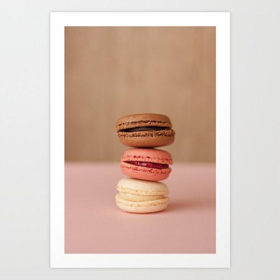 french macaroons Art Print