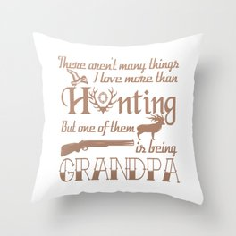 Hunting Grandpa Throw Pillow