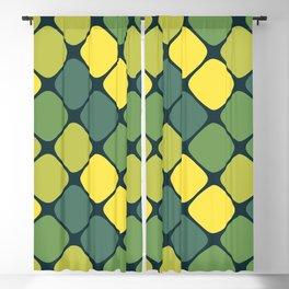 Diagonal Squircle Pattern (Green Yellow) Blackout Curtain