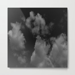 Cloudy black Metal Print