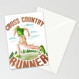 Fun Runner Gift Cross Country Runner Stationery Cards