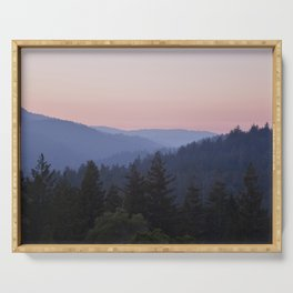 Sunset in the Santa Cruz Mountains Serving Tray