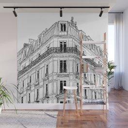 Parisian Facade Wall Mural