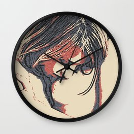 Girls love to play naughty - sexy conte 3, abstract erotic nude, hot lesbian games, kinky woman sex Wall Clock