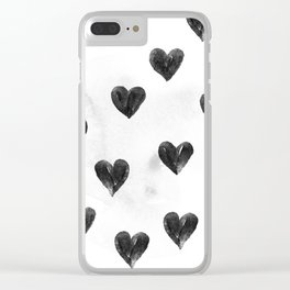 I drew a few hearts for you Clear iPhone Case