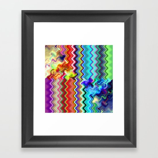 Multicolored abstract no. 10 Framed Art Print