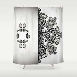 Ornament and grunge texture Shower Curtain