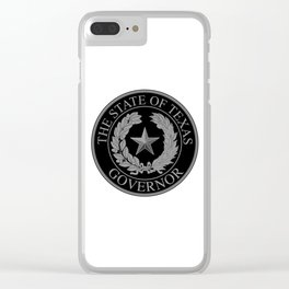 Texas State Governor Seal Clear iPhone Case
