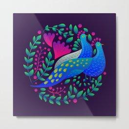 Peacock Love by SCD Balaji Metal Print