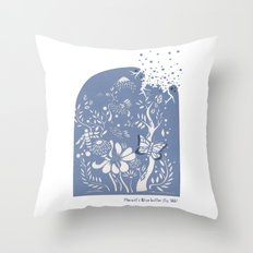 Butter fly Throw Pillow