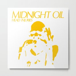 MidNight Oil Head Injuries Metal Print