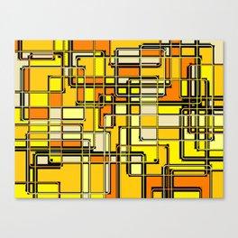 Vintage Yellow Print Canvas Print