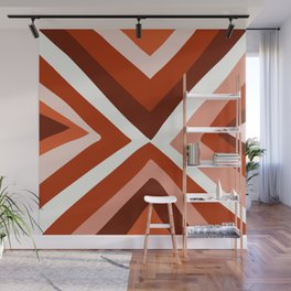 Abstract triangle geometric artwork in Autumn Colors Wall Mural