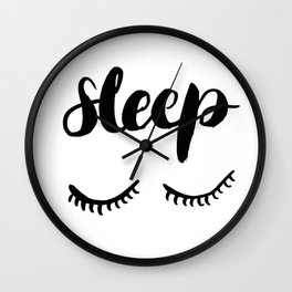 Sleep with Eyelashes Wall Clock