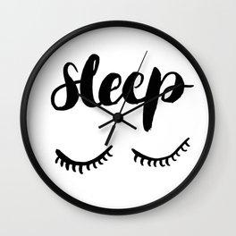 Sleep with Eyelashes Wall Clock