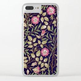 William Morris Sweet Briar Floral Art Nouveau Clear iPhone Case