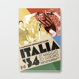 World Cup: Italy 1934 Metal Print