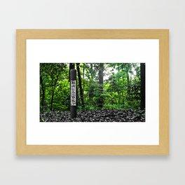Do Not Enter Toyko Forest Framed Art Print