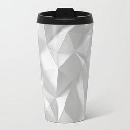 White polygonal landscape Travel Mug