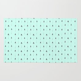 mint magic arrows Rug