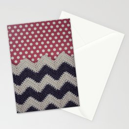 Chevron and Dot Stationery Cards