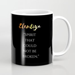 """Spirit that could not be broken"" (black) Coffee Mug"