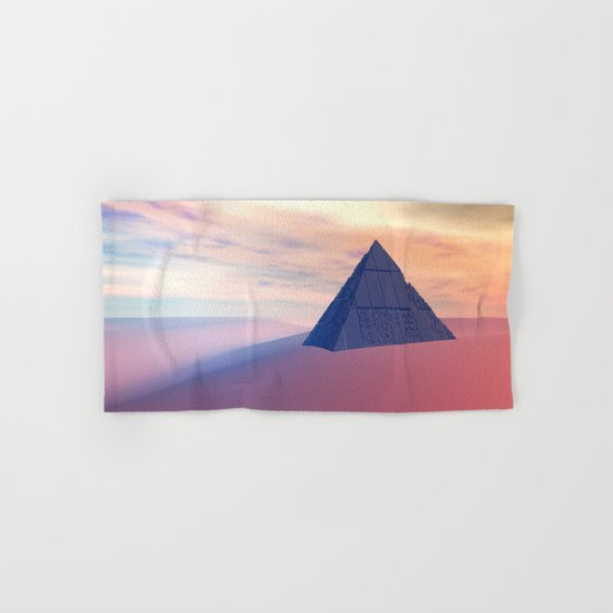 Ancient Pyramid In Desert Hand & Bath Towel