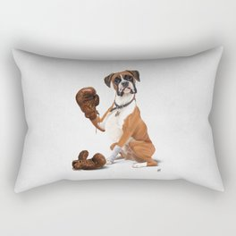 The Boxer (Wordless) Rectangular Pillow