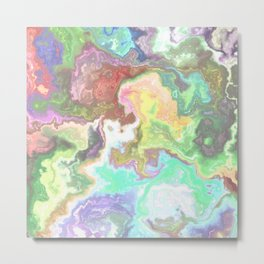 Abstract Marble Texture 473 Metal Print