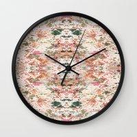 minerals Wall Clocks featuring Mystic Minerals 3 by Caroline Sansone