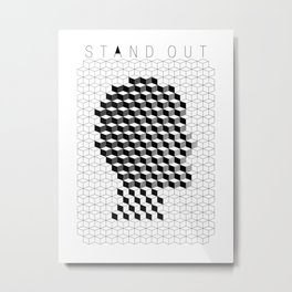 VISION CITY - STAND OUT Metal Print