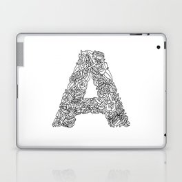 Floral Type - Letter A Laptop & iPad Skin